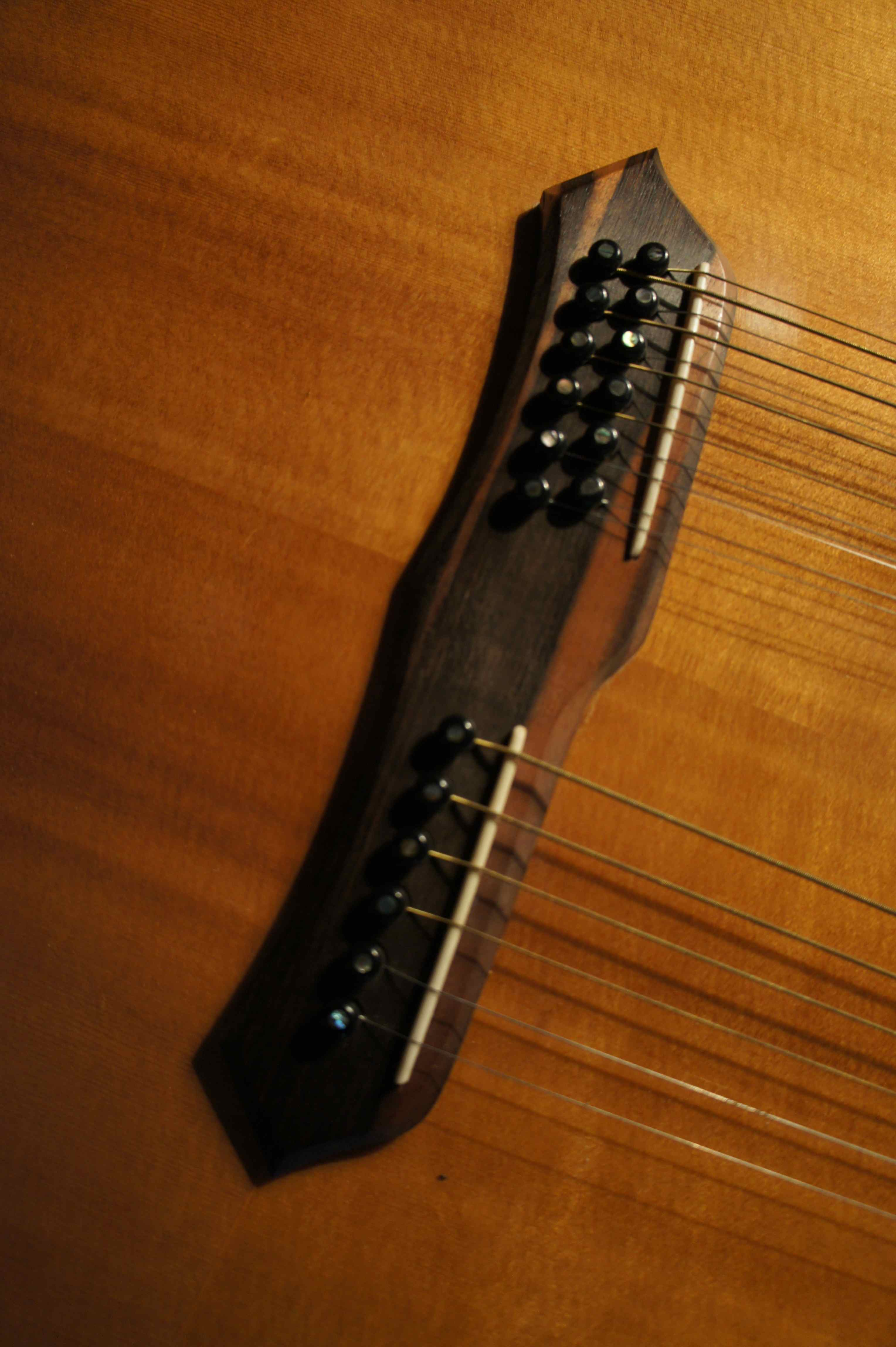 Alvarez double neck acoustic guitar dy 87 1987 trevor rabin yes